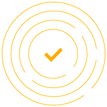 yellow checkmark in circles